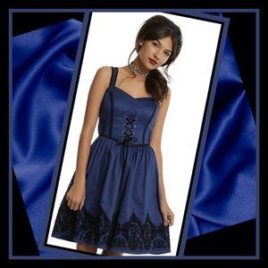 New Gothic Victorian Filigree Ball Gown Dress Sz:M